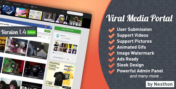 CodeCanyon – Viral Media Portal v 1 3 1 | share theme free